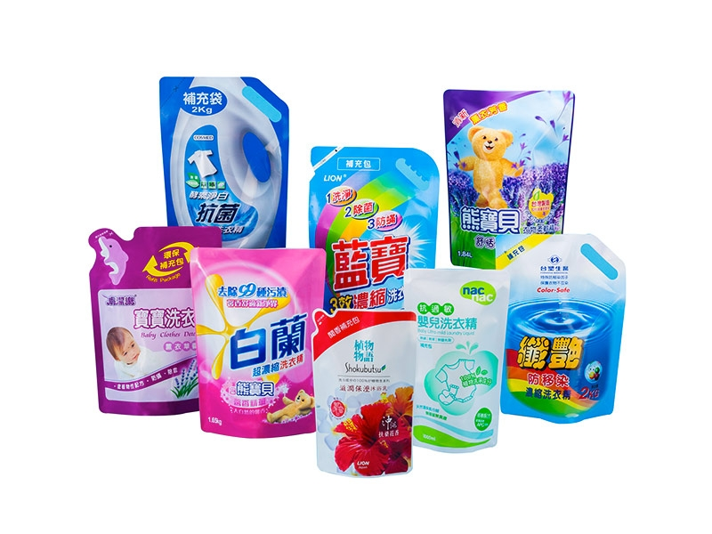 Stand Up Pouch for Liquid Detergent